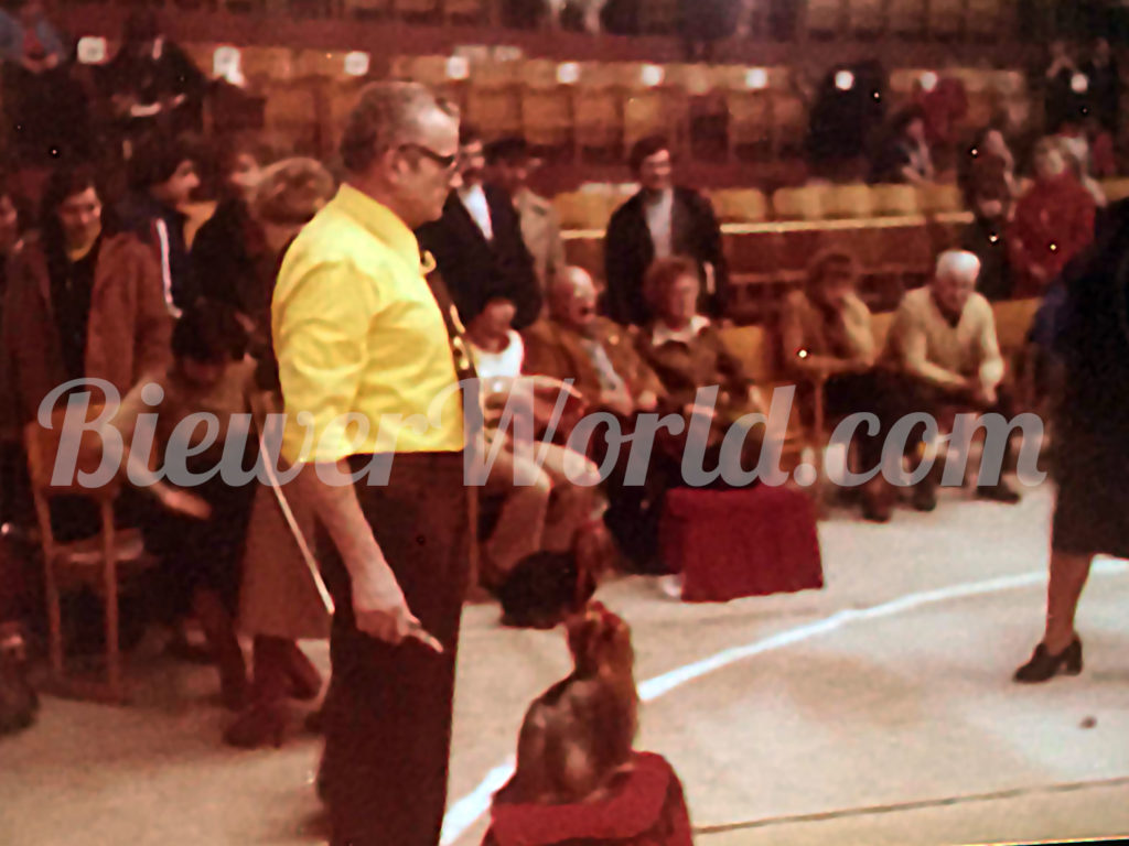 Werner Biewer at a dog show