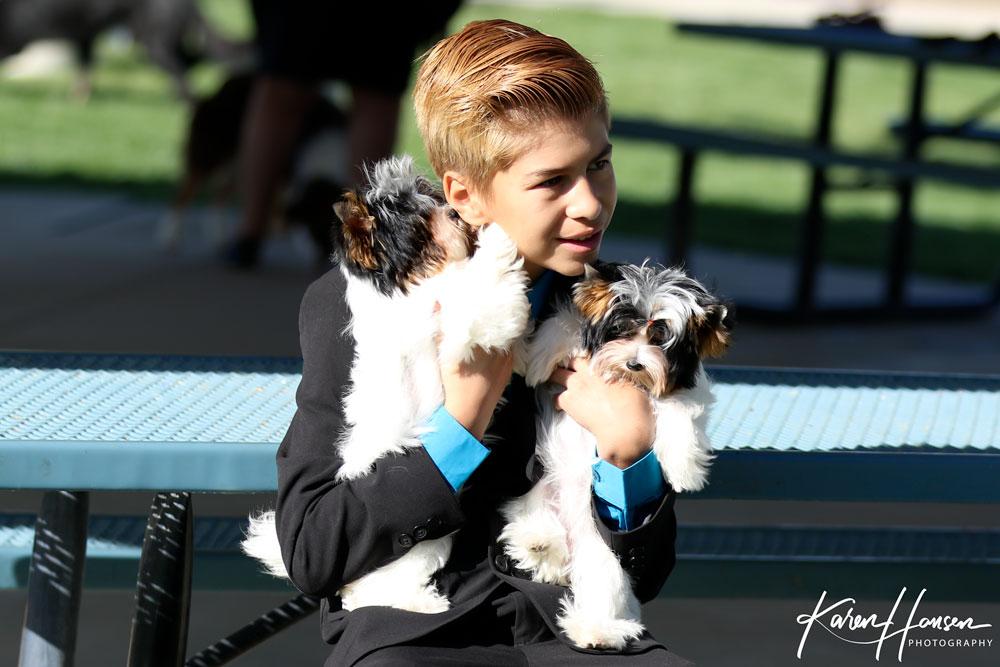 Leon Hansen with Milo Puppies Zelda & Zodiac