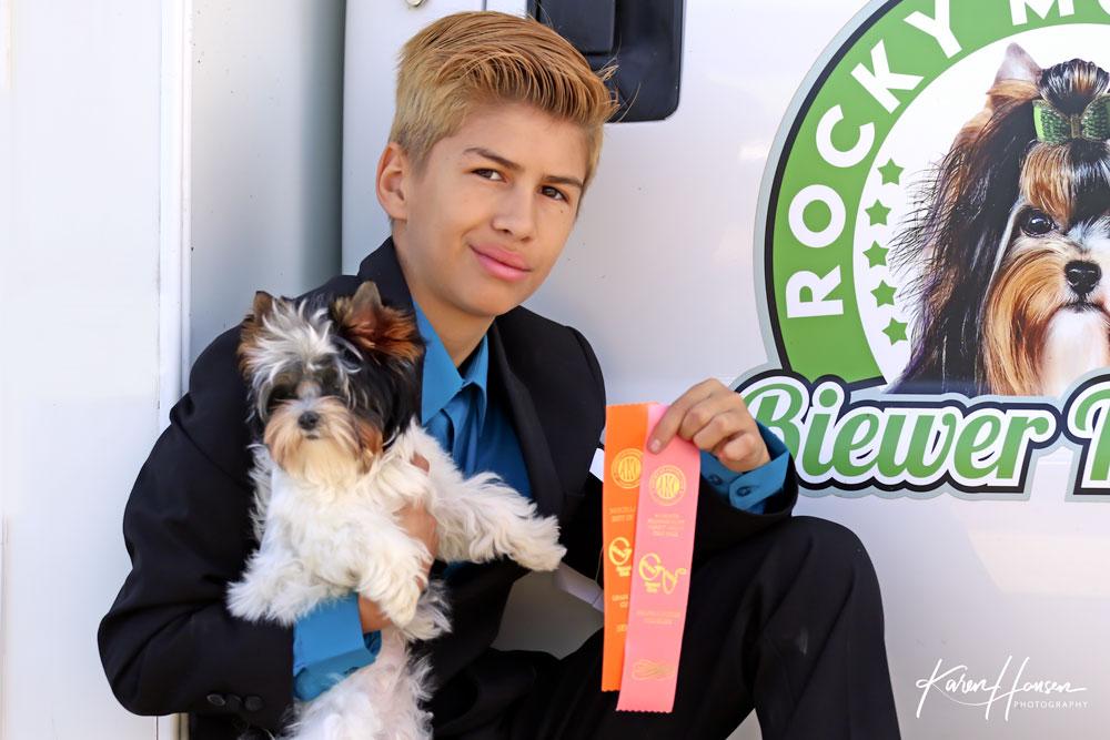 Leon Hansen with Zodiac Best Puppy in Misc. Show