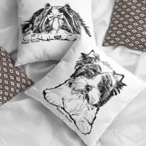 Biewer Terrier Pillow Cases